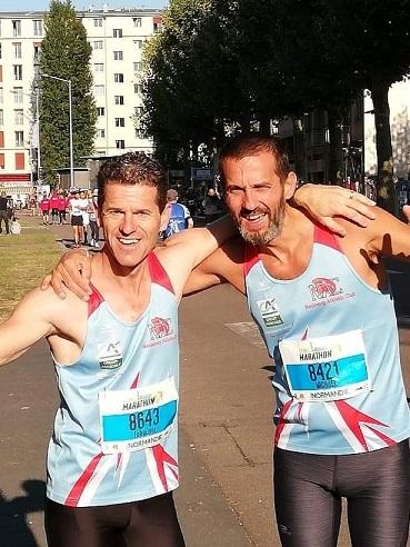 Fabien & Michael après leur record personnel sur 10 km